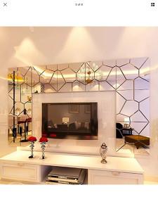 Zidne dekoracije ogledalo naljepnice