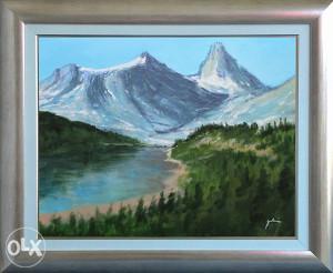 AKCIJA/umjetnička slika, pogled na planinu