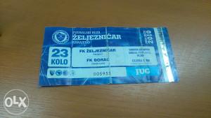 Ulaznica-F.K. Zeljeznicar- F.K.Borac