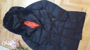 Ženska zimska jakna sa pravim krznom