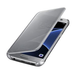 Samsung Galaxy S7 Edge Silver Titanium S View maska
