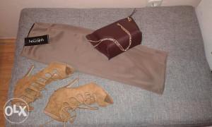 Suknja torba i sandale