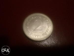 Kovanica SFRJ 2 dinara 1991 g.