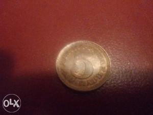 Kovanica SFRJ 5 para 1976 g.