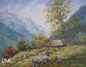 Umjetnička slika - Planinski pejzaž 2