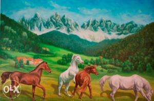 Umjetnička slika - Planinski pejzaž