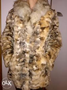 Zenska krznena bunda,krzno lisice.