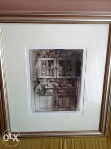 """Safet Zec """"Kredenac"""" 31 x 24 cm"""