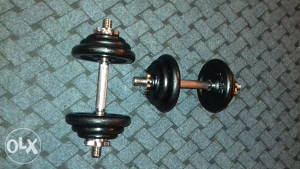 Bučice 8x1.25 kg  4x0.50 kg i 2 šipke (DVIJE BUČICE)