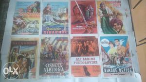 Filmski plakat/poster oko 1000 komada od 1945 do 1990