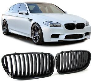 BMW 5 F10 F11 od 10 M maska bubrezi grill crni sjajni
