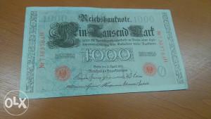 NOVCANICA.1000 Njemackih maraka-1910 GOD.
